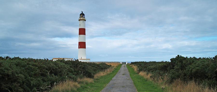 Lighthouse Photograph - Tarbat Ness Light by Steve Watson