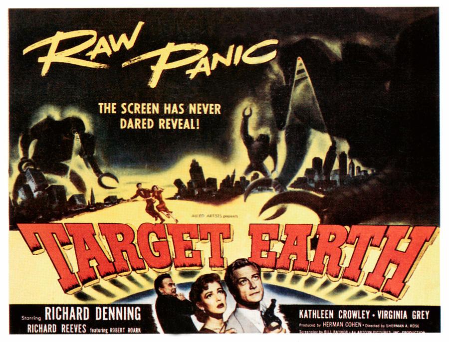 Crowley Photograph - Target Earth, Bottom Center Kathleen by Everett