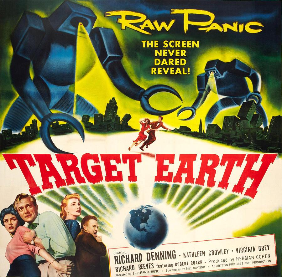 1954 Movies Photograph - Target Earth, Bottom Left Kathleen by Everett