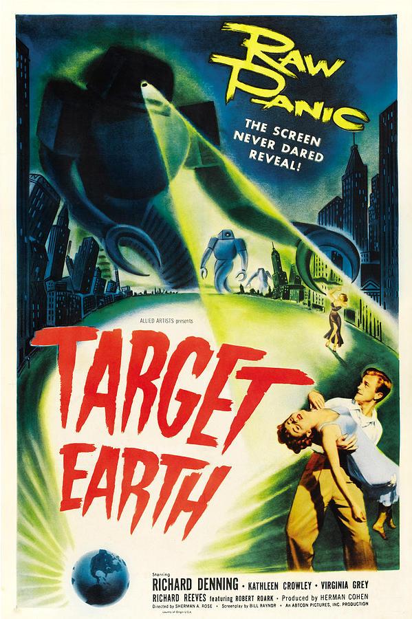 1950s Poster Art Photograph - Target Earth, Bottom Right Richard by Everett