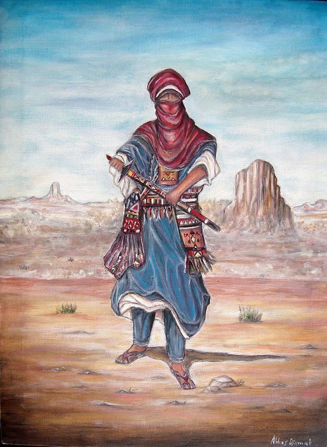 Painting - Targui Folklore by Abbas Djamat