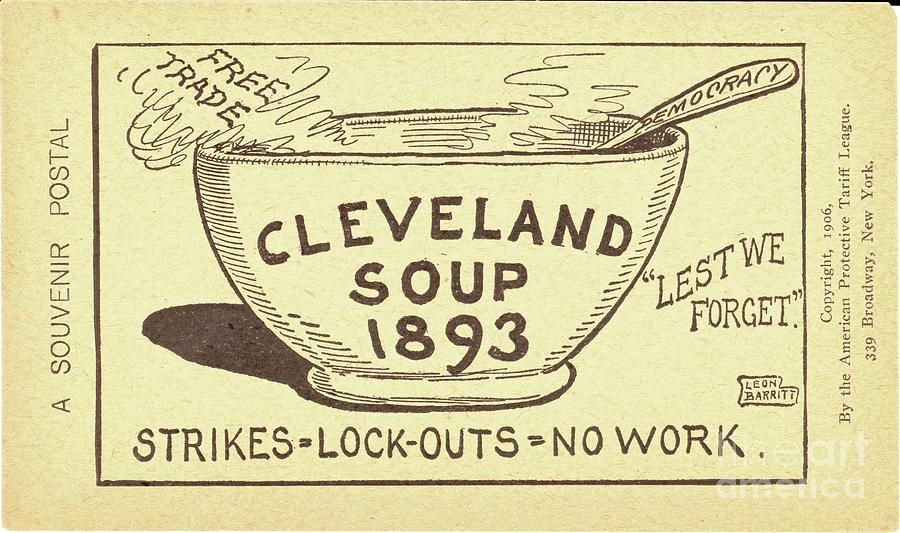 1893 Photograph - Tariff League Postcard, 1906 by Granger