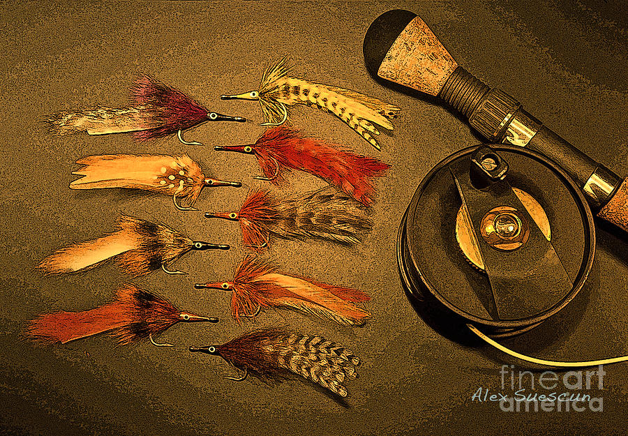 Bonefish Painting - Tarpon Arsenal by Alex Suescun