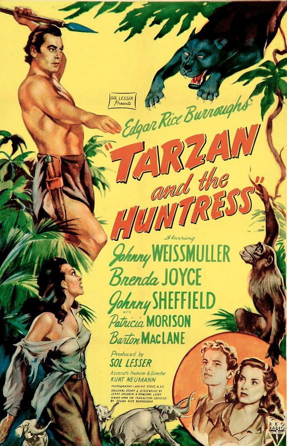 1940s Movies Photograph - Tarzan And The Huntress, Patricia by Everett