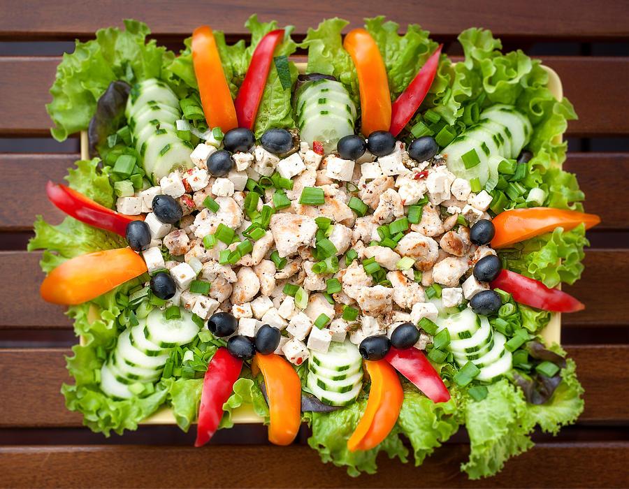 Chicken Photograph - Tasty Chicken Salad by Ari Salmela