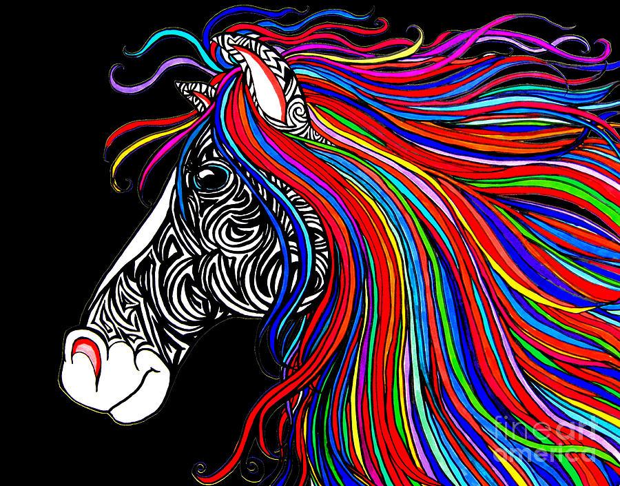 Tattooed Horse Drawing