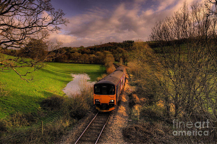 Train Photograph - Taw Valley by Rob Hawkins