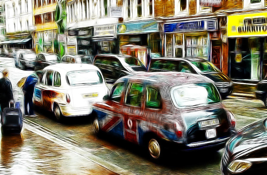Taxi Please Painting by Steve K