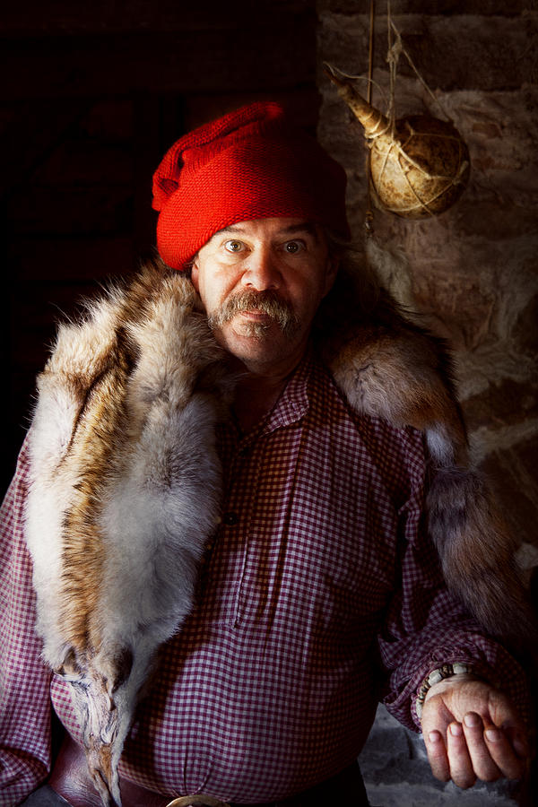 Man Photograph - Taxidermist - Jaque The Fur Trader by Mike Savad