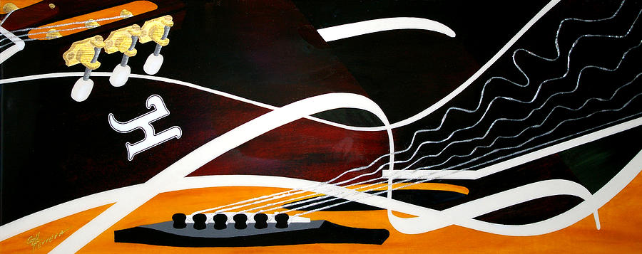 Guitar Painting - Taylors Curves... by Guadalupe Herrera