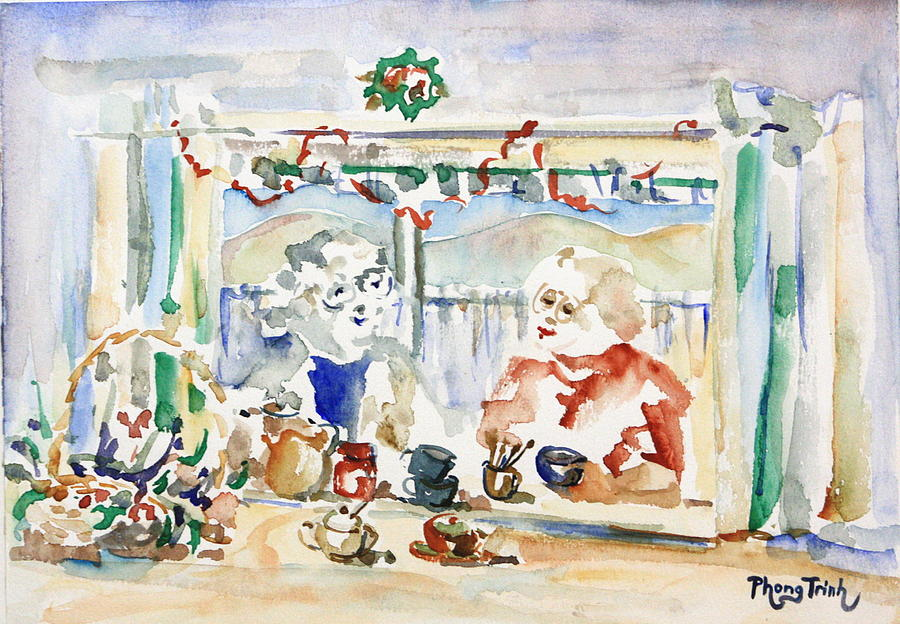 All Painting - Tea For Two by Phong Trinh