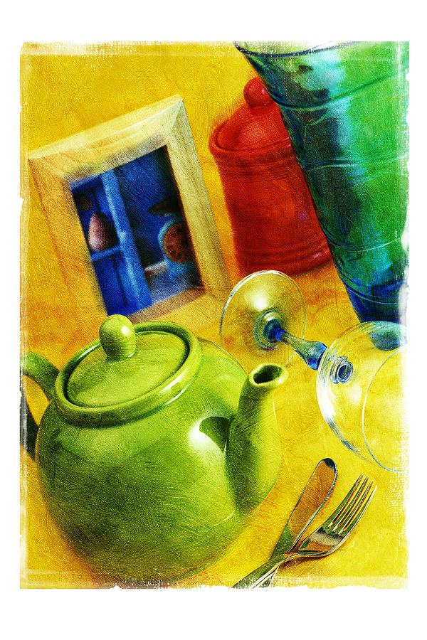 Art Pyrography - Tea Pot by Mauro Celotti