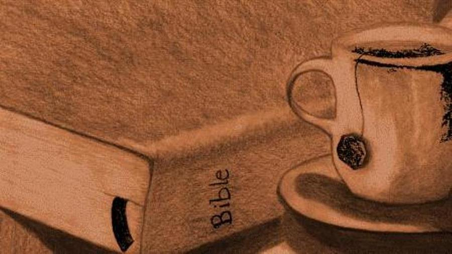 Bible Drawing - Tea With Jesus by Shannon Redmon