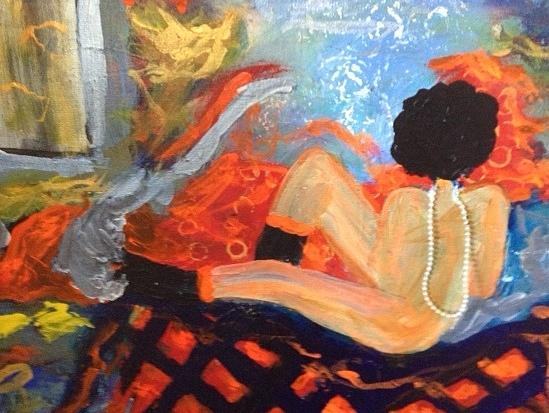 Women Painting - Teal Tart by Annette McElhiney
