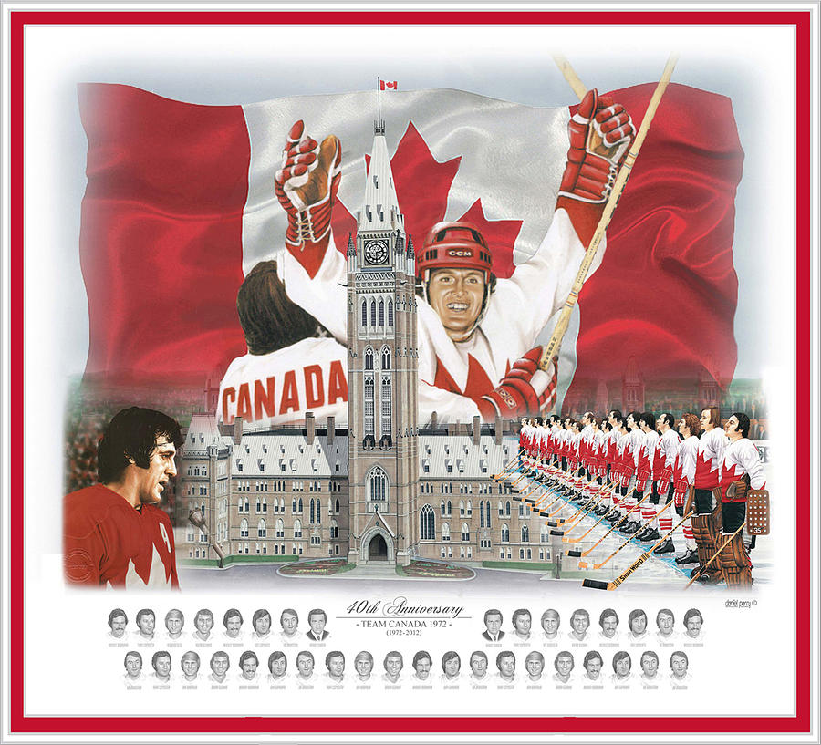 Team Canada 72 Painting - Team Canada 40th Anniversary 11x14 by Daniel Parry