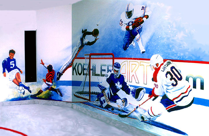 Team Sports Mural Painting by Hanne Lore Koehler