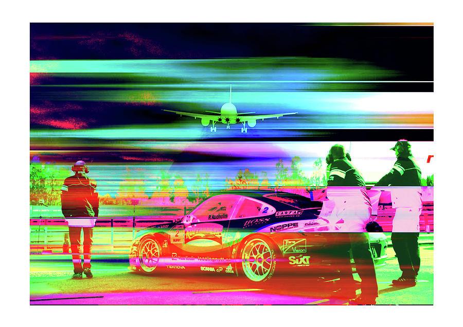 Team Work Porsche Racing  Photograph by Francesco Valentino
