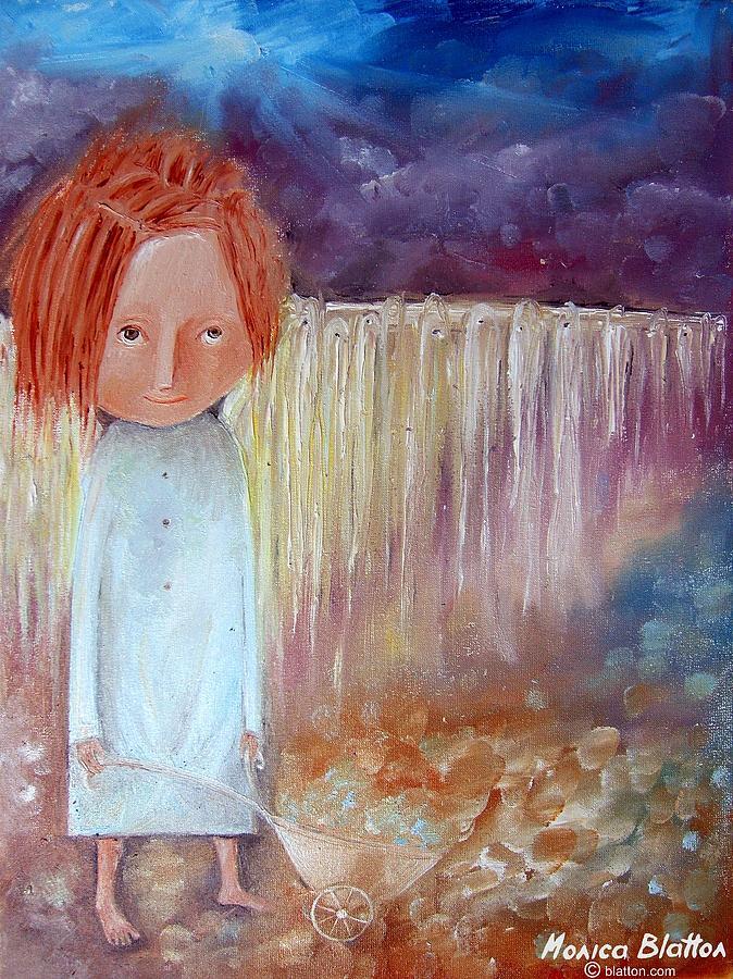 Oil Painting - Tears Taker by Monica Blatton