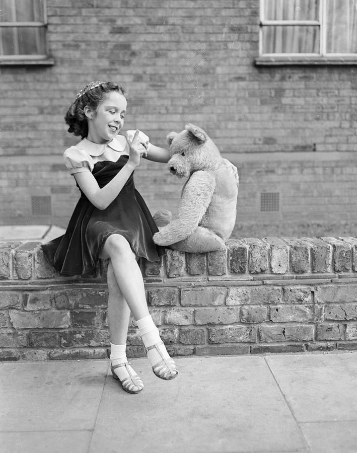 Child Photograph - Teddy Act by Keystone