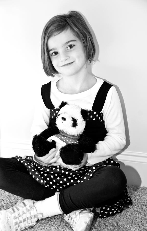 Girl Photograph - Teddy Bear by Susan Leggett
