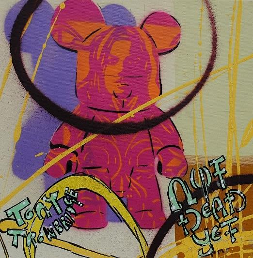 Graffiti Painting - Teddy Gets It by Tony Trowbridge
