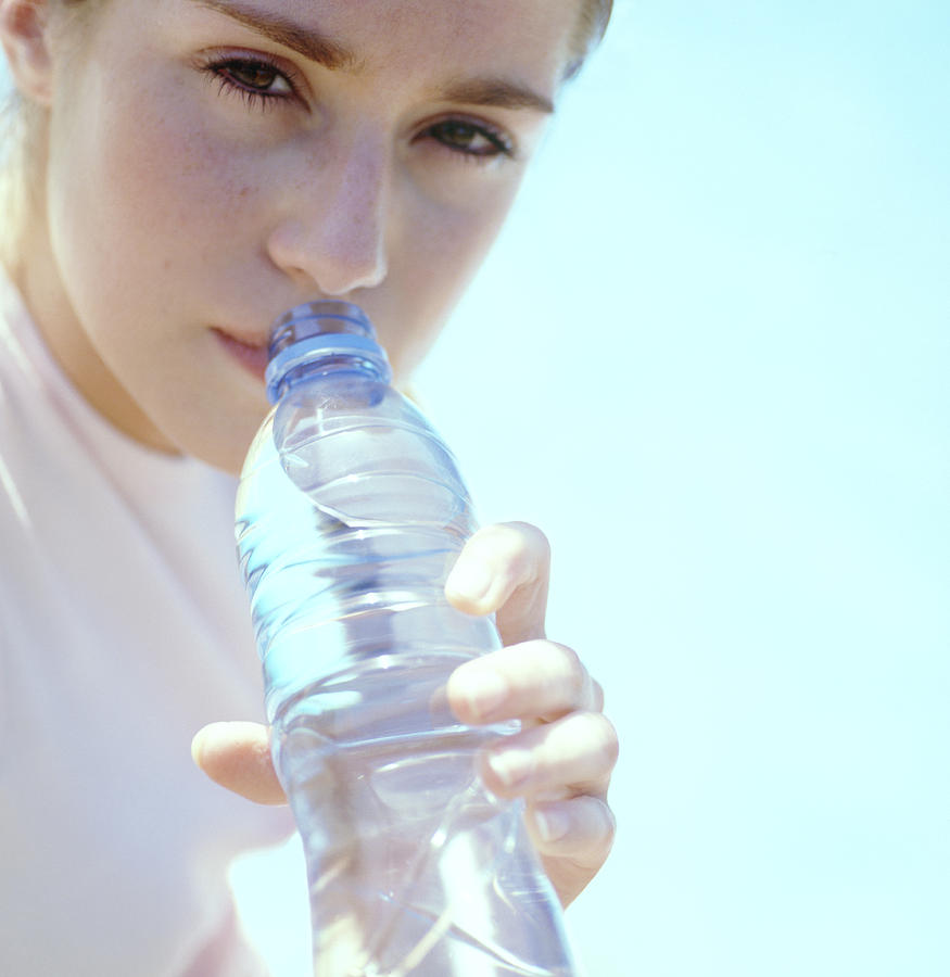 Drink Photograph - Teenage Girl Drinking Water by Cristina Pedrazzini