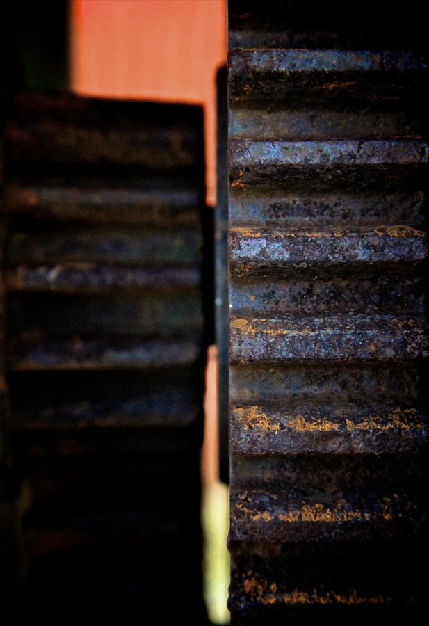Machinery Photograph - Teeth 2 by Odd Jeppesen