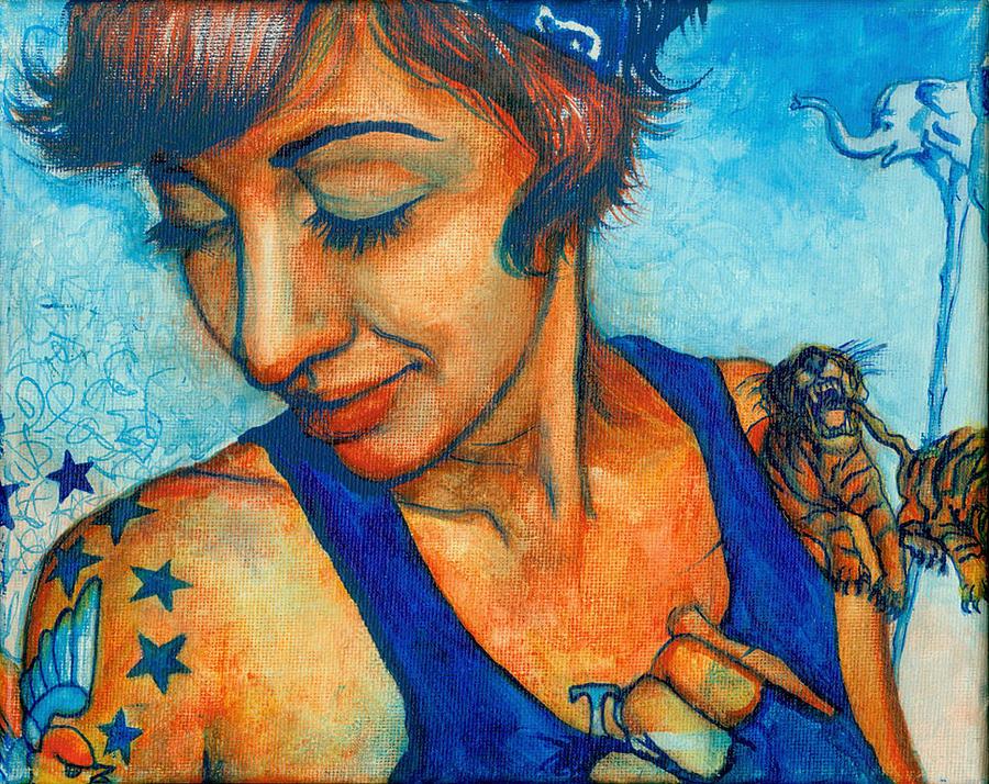 Tegan Tattoos Painting by Emily Lounsbury