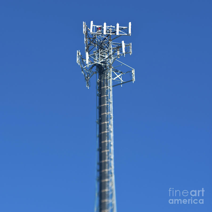Architectural Detail Photograph - Telecommunications Tower by Eddy Joaquim
