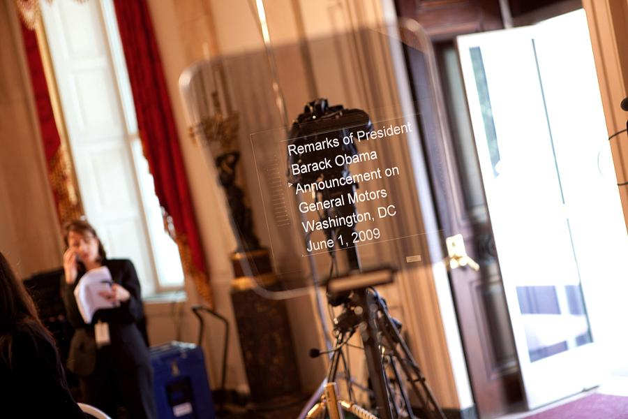 History Photograph - Teleprompter Set Up For President by Everett
