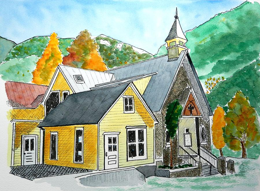 Telluride Church Painting by Don L Williams