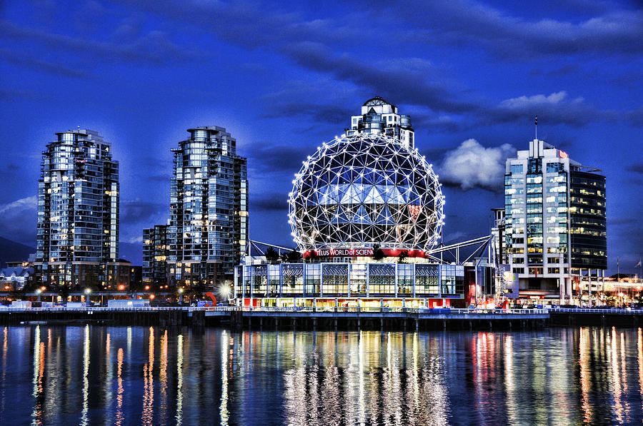 Telus Photograph - Telus Science Center Vancouver Bc by Lawrence Christopher