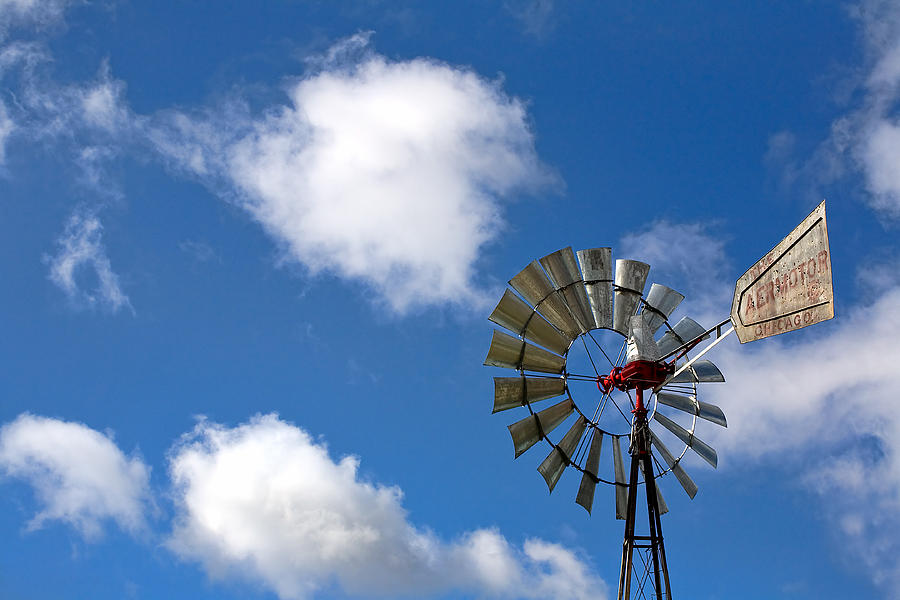 Clouds Photograph - Temecula Wine Country Windmill by Peter Tellone