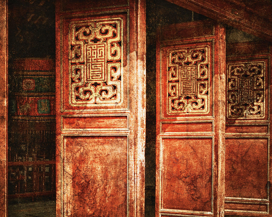 Asia Photograph - Temple Door by Skip Nall