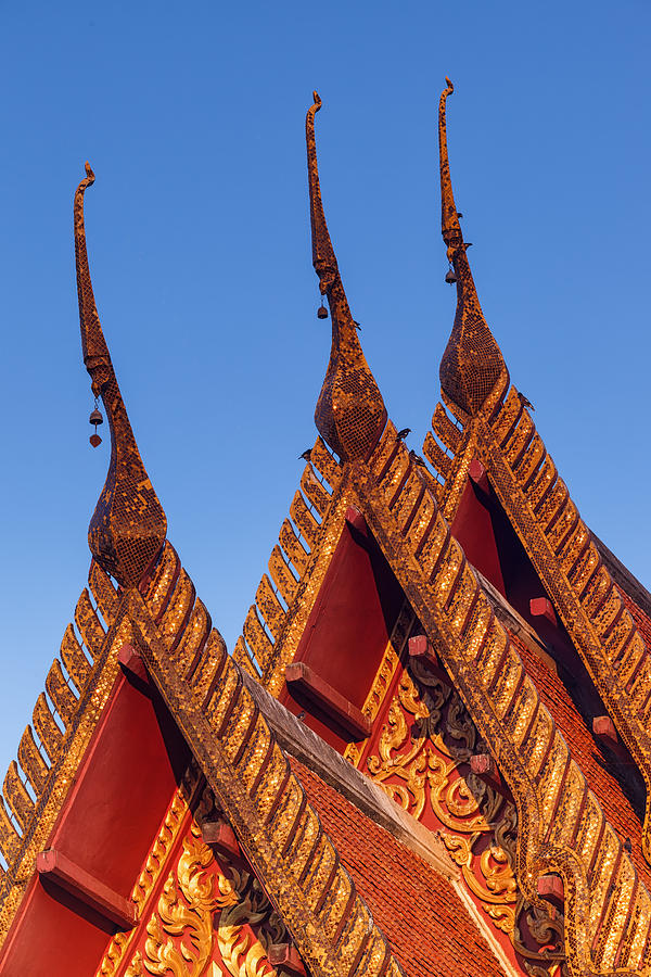 Thailand Photograph - Temple Roof by Thomas  von Aesch