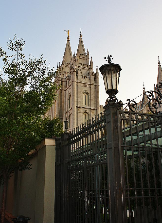 Architecture Photograph - Temple Square Grounds by Bruce Bley