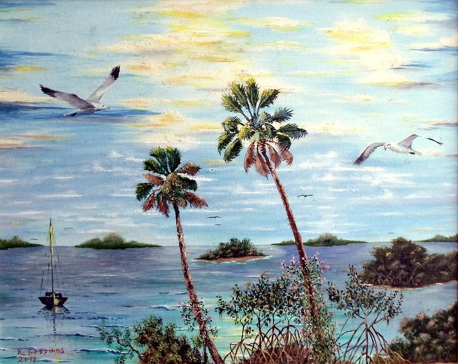 Art Work Painting - Ten Thousand Islands 2 by Riley Geddings