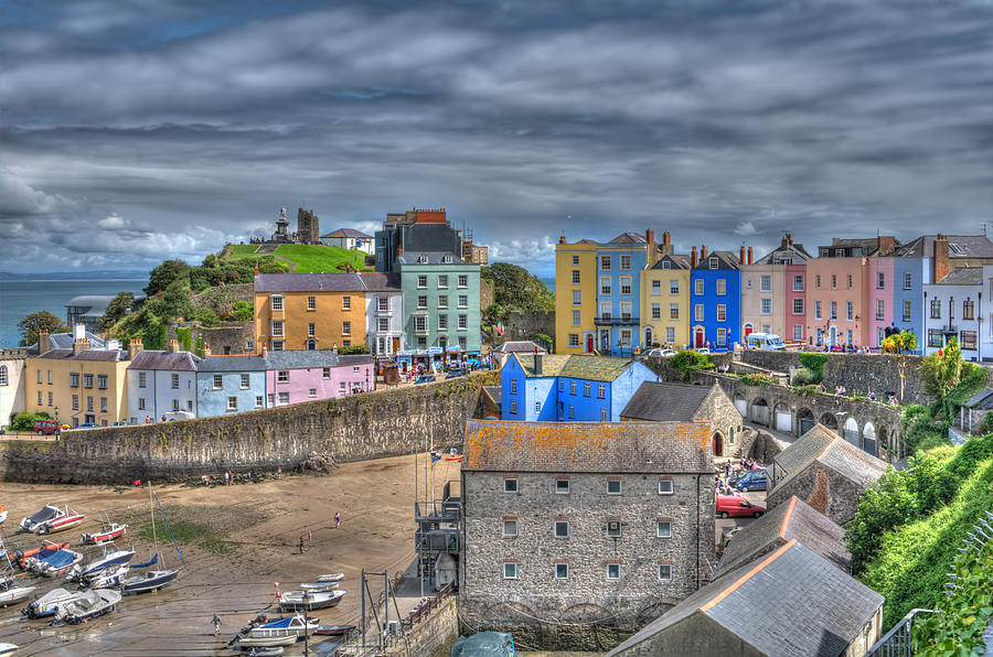 Tenby Photograph - Tenby Harbour In Summer 2 by Steve Purnell
