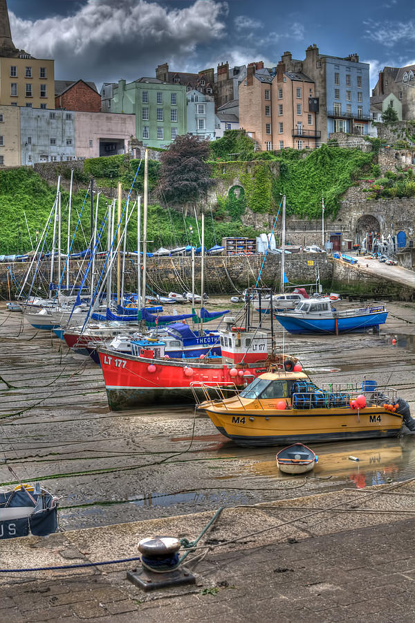 Tenby Photograph - Tenby Harbour In Summer 3 by Steve Purnell