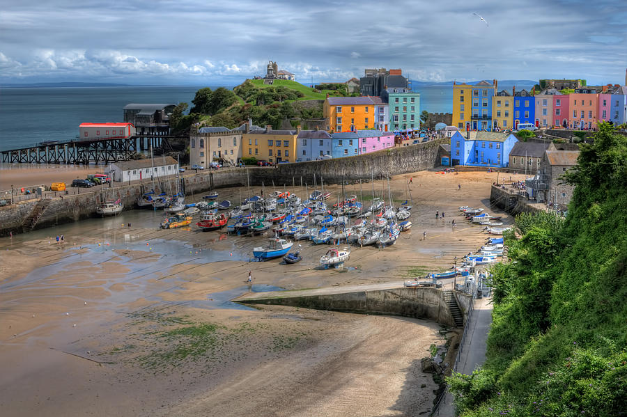 Tenby Photograph - Tenby Harbour In Summer by Steve Purnell
