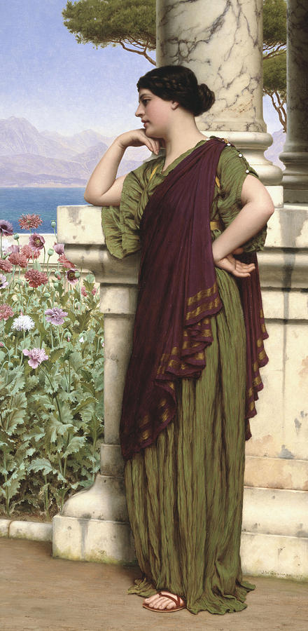 Tender Thoughts Painting - Tender Thoughts by John William Godward