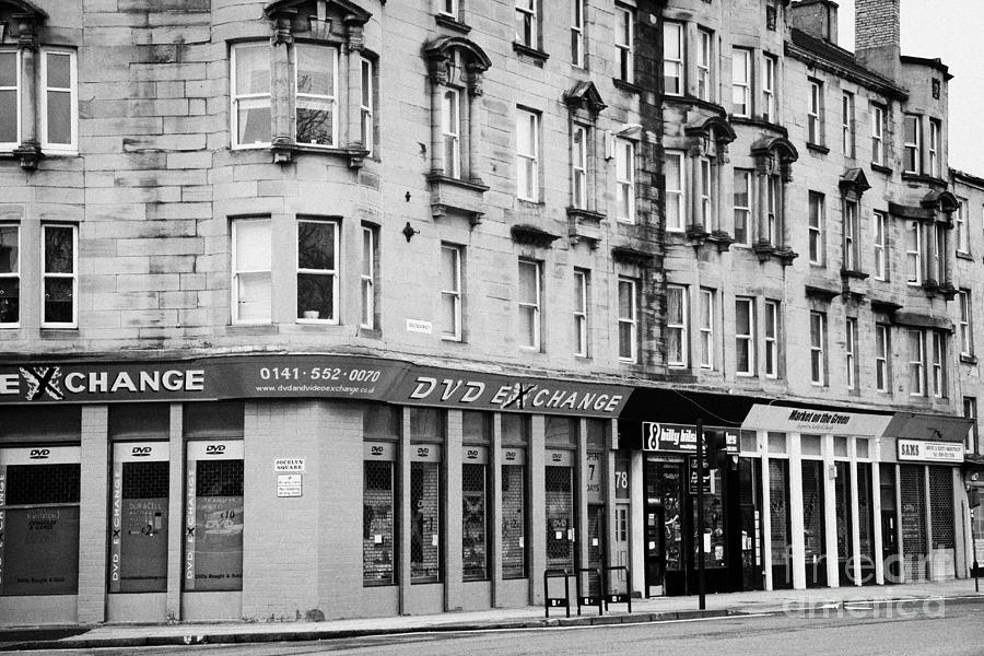 Tenement Photograph - Tenement Buildings And Shops On Saltmarket Glasgow Scotland Uk by Joe Fox