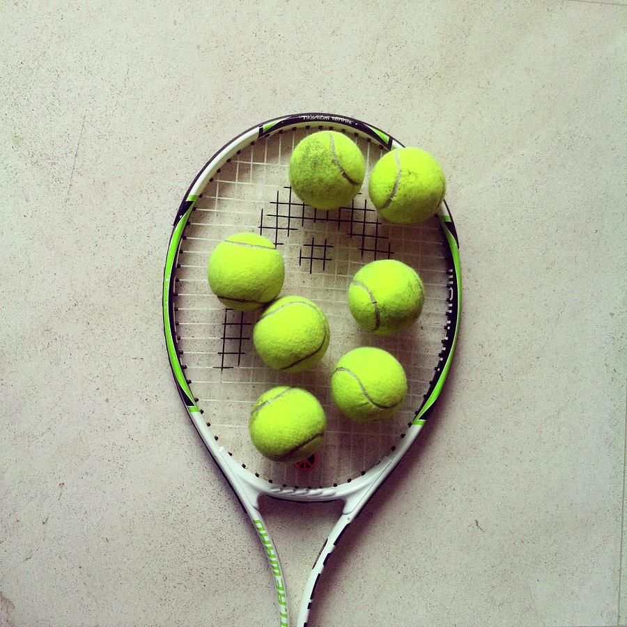 Square Photograph - Tennis by Shilpa Harolikar