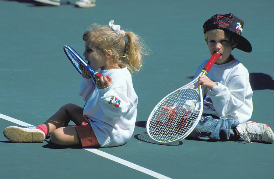 Cute Photograph - Tennis Tots At Wimbledon by Carl Purcell