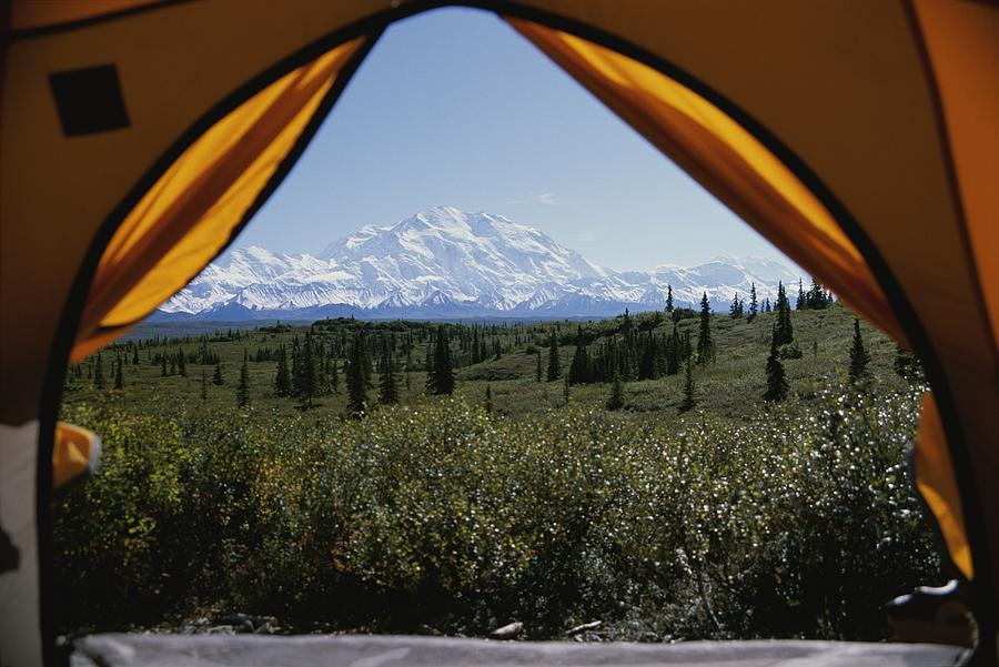 Tent Flaps Open To A Breathtaking View Photograph By Stacy