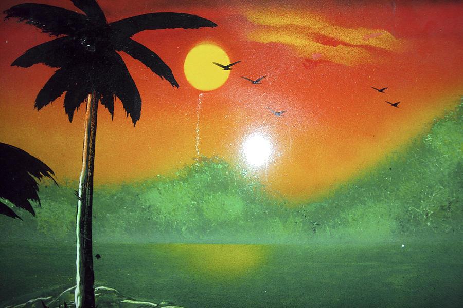 Palms Mixed Media - Tequila Sunrise by Artista Elisabet