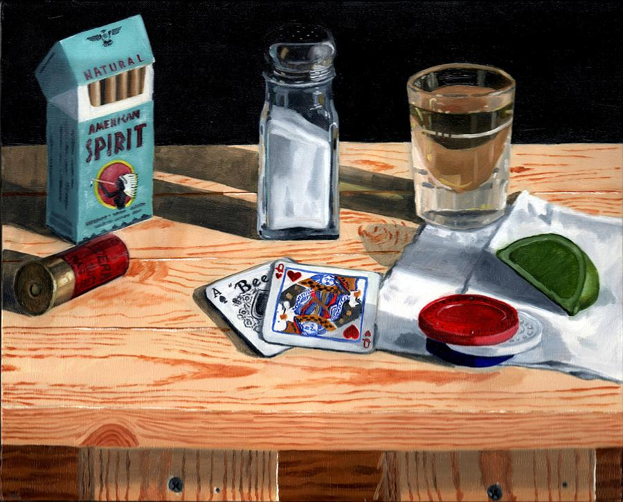 Still Life Painting - Tequila With Lime No. 4 by Thomas Weeks