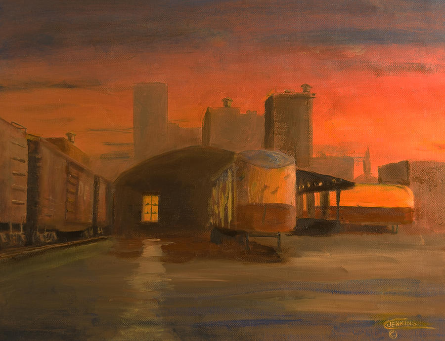 Railroad Painting - Terminal Transfer by Christopher Jenkins