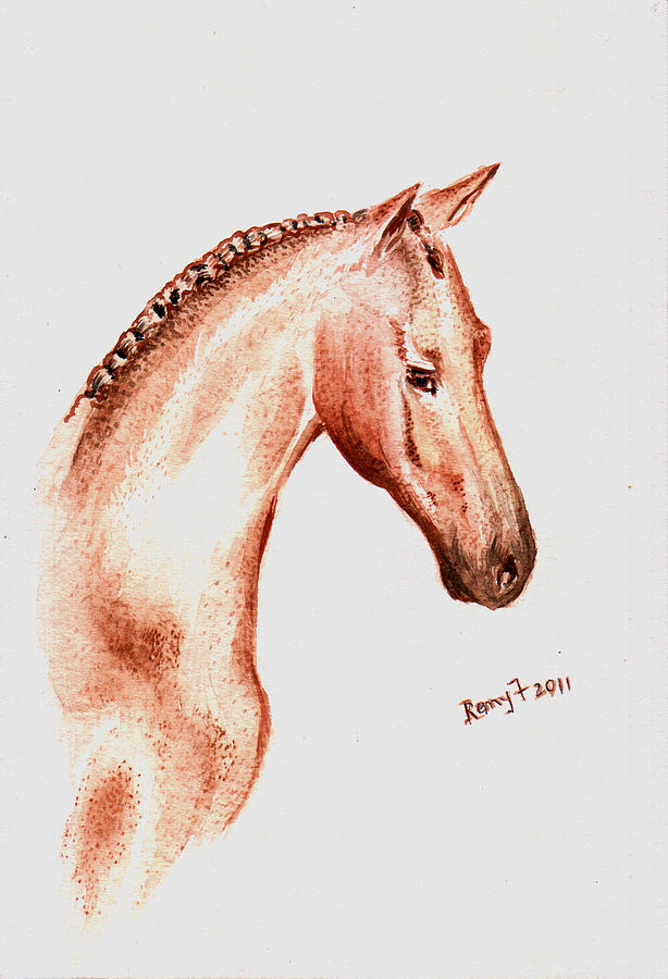Horse Artwork Painting - Terracota Bronco by Remy Francis