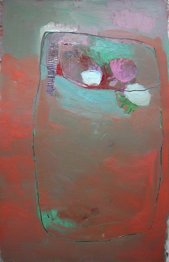 Peach Painting - Terrarium With Peach by Brooke Wandall